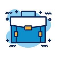 portfolio briefcase detail style icon vector