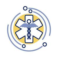 pharmacy medical symbol line style vector
