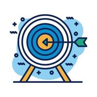 target arrow detail style icon vector