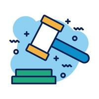 hammer judge detail style icon vector