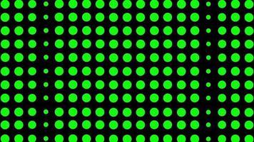 grön cirkelbakgrund med fyrkantiga animationsslinga videofilmer video