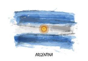 Bandera de acuarela realista de argentina. vector