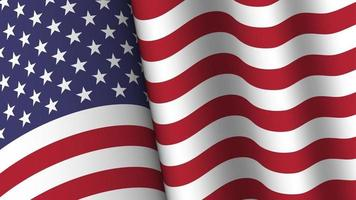 America flag background collection. Waving design. 4th of July independence day concept. vector