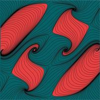 Minimalist Abstract flow Curvy and Wavy Streamlines Line Art Background Texture vector