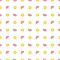 Cute seamless pattern with watermelon and sun in pastel colours. Summer print for textiles, wrapping paper and other designs vector