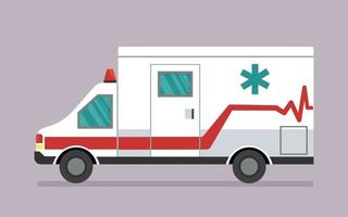 Ambulance car. First aid for isolation, viruses and pandemics. Safe transportation of patients, fast emergency care vector