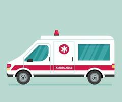 Ambulance car. First aid for isolation, viruses and pandemics. Safe transportation of patients, fast emergency care. Transport to help seriously ill patients vector