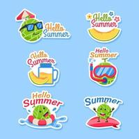 Melon Fruit Enjoy Summer Holiday vector