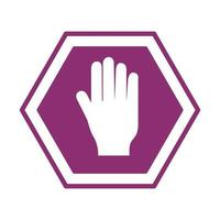 stop traffic signalline style icon vector