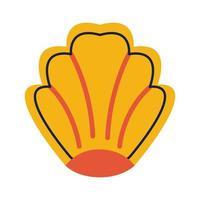 shell sea animal flat style icon vector