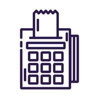 register machine line style icon vector