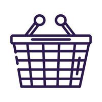 shopping basket commerce line style icon vector