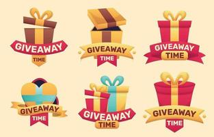 Giveaway Time Sticker Collections vector