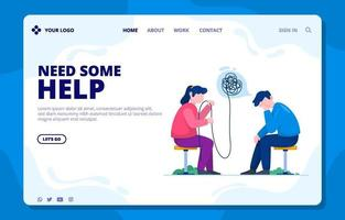 Suicide Preventions Landing Page vector