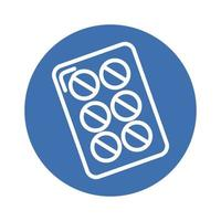 pastillas de medicina sellan icono de estilo de bloque de drogas vector