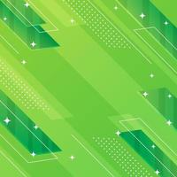 Abstract Geometric Shape Green Background vector