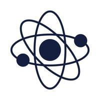 atom molecule science silhouette style vector