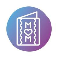 mother day card block style icon vector