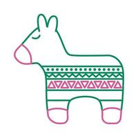 mexican culture pinata line style icon vector