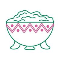 guacamole avocado sauce line style icon vector
