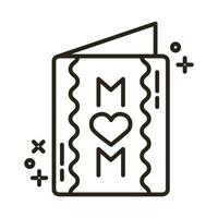 mother day card line style icon vector