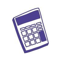 calculator math device isolated icon vector