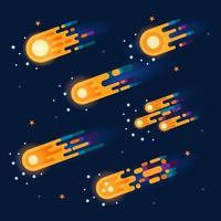Meteor Icon Collection vector