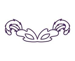 mardi gras celebration mask with feathers vector