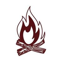 fire wood camping isolated icon vector