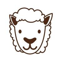 cute sheep farm animal character vector