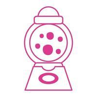 Icono aislado de la máquina dispensadora de caramelos vector