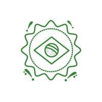 sello de sello con bandera brasileña vector