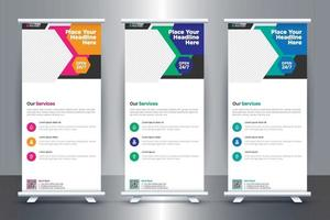 Free Medical Roll Up Banner Design For Hospital and health Care vector