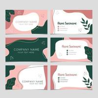 Floral Name Card Template vector