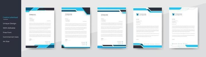 Modern Creative And Clean business style letterhead bundle for corporate project design. corporate letterhead bundle. corporate letterhead set. vector