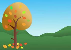 Autumn Tree Landscape Scene vector