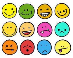 Emoji Funny Face Avatar Set vector