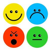 Simple Avatar Emotional Faces vector