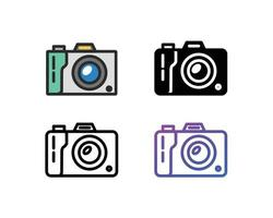 Camera icon pack vector