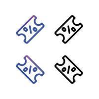 Discount sign icon vector