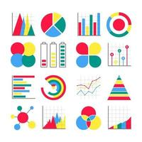 Modern flat style design infographics icons signs set vector illustration isolated on white background