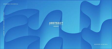 Curve 3D Blue Fluid Wave Shape Abstract Liquid Background. vector