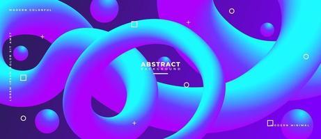 azul y magenta forma de onda fluida 3d fondo líquido abstracto. vector
