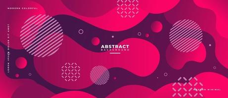Red Fluid Wave Shape Abstract Liquid Background. vector