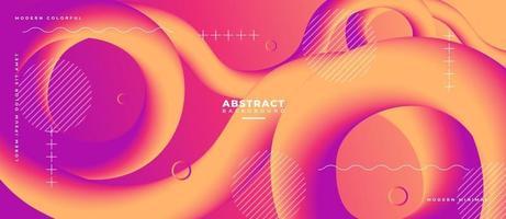 3D Abstract Fluid Wave Shape Liquid Background. vector