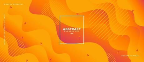 3D Orange Fluid Wave Shape Abstract Liquid Background. vector