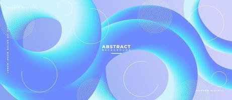 3D Gradient Blue and Fluid Wave Shape Abstract Liquid Background. vector