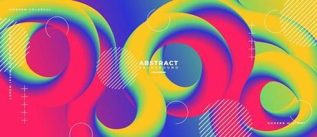 3D Shape Fluid Wave Abstract Liquid Background. vector