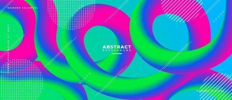 azul magenta y verde forma de onda fluida 3d fondo líquido abstracto. vector