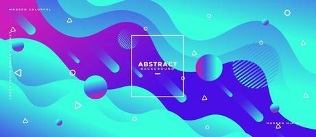 Layered Gradient Blue Fluid Wave Shape Abstract Liquid Background. vector